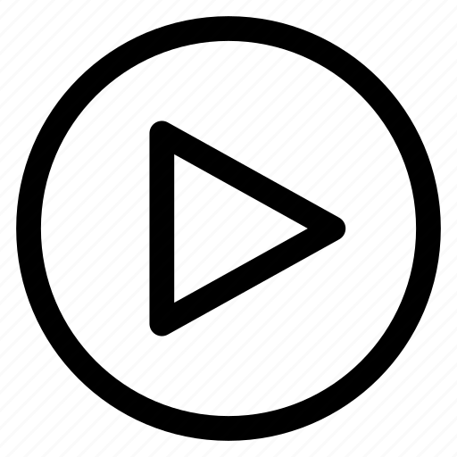 button, circle, icon, multimedia, play icon