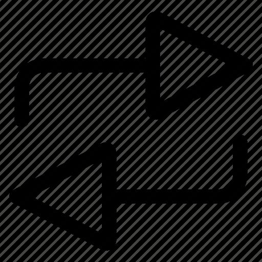 arrows, icon, multimedia, music, refresh, repeat icon
