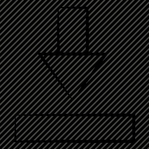 Arrow, dawn, download, media icon - Download on Iconfinder