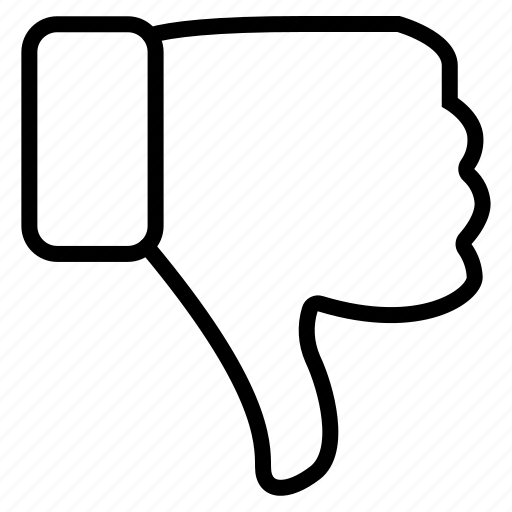 dislike, down, rating icon