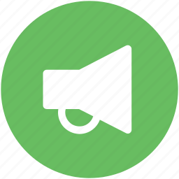 advertising, alert, announcement, bullhorn, loud hailer, megaphone, speaking-trumpet icon