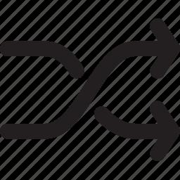 arrows, change, changing, exchange, multimedia, shuffle, symbols icon