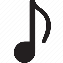 interface, multimedia, music, music player, musical note, quaver, song icon