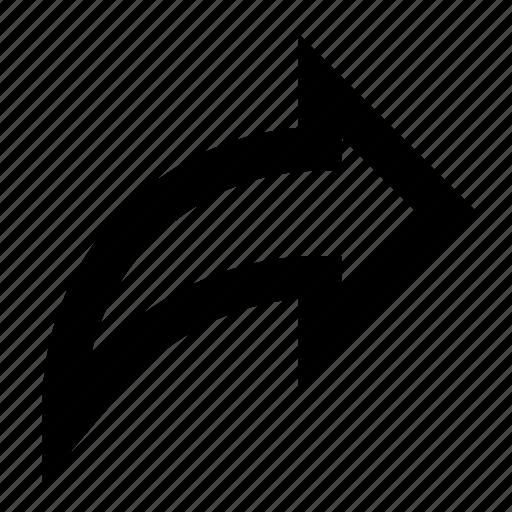 arrow, forward, right, share icon