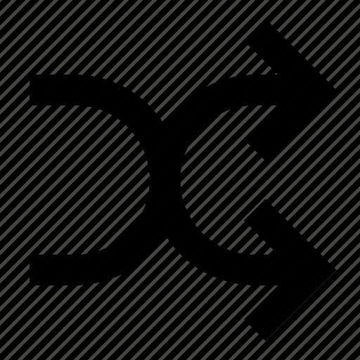 Arrows, media, music, random, shuffle icon - Download on Iconfinder
