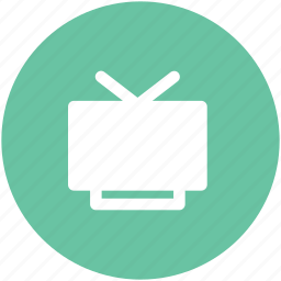 antenna television, lcd, multimedia, tv, tv screen, vintage tv icon