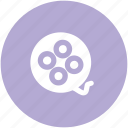 bobbin reel, camera reel, film stip, multimedia, reel, sound, tape reel icon