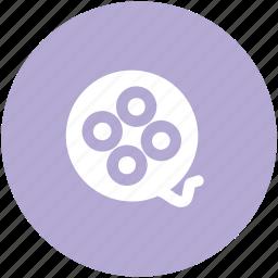 bobbin reel, camera reel, film stip, multimedia, reel, sound, tape reel icon