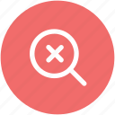 cancel search, magnifier, magnifying glass, remove zoom, search, zoom cross icon
