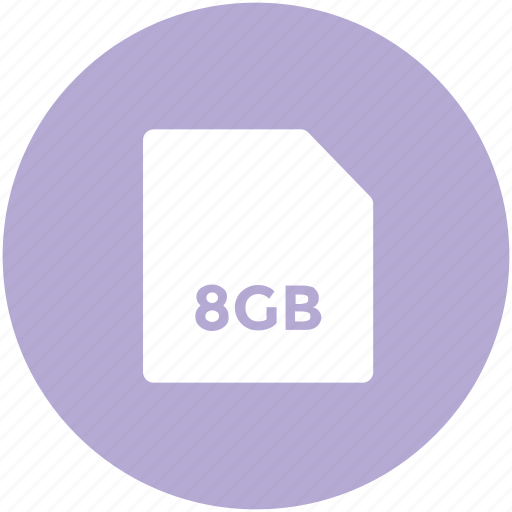 8gb memory, chip, chip card, gsm, memory card, micro card icon