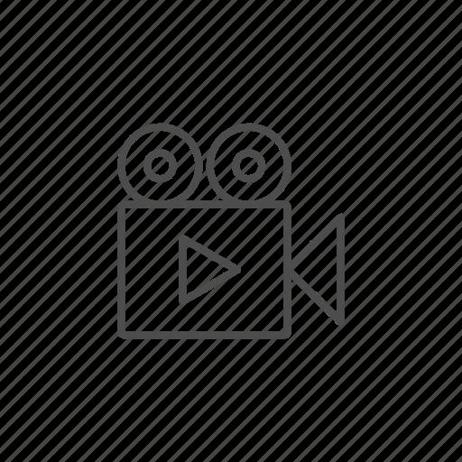 camera, multimedia, player, video icon
