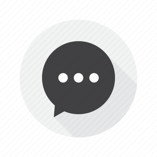 chat, friends, message, multimedia, typing icon