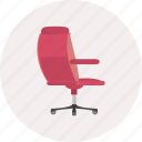 chair, equipment, furniture, multimedia, object, seat, sit icon