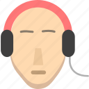 earphone, earpiece, headphone, headset, music icon