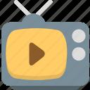 media, play, television, tv icon