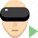 headset, reality, start vr, virtual, vr, vr video icon