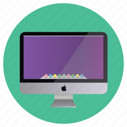 apple, clean, computer, detailed, display, imac, mobile, monitor, multimedia, screen, technology icon