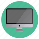 apple, computer, display, imac, mobile, monitor, multimedia, off, round, screen, technology icon