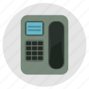 call, contact, dial, mobile, multimedia, phone, round icon