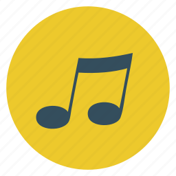 mobile, msic, multimedia, note, round, sound, technology icon