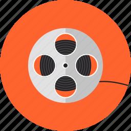cassette, cinema, cinematography, film, filmstrip, reel, roll, strip, video icon