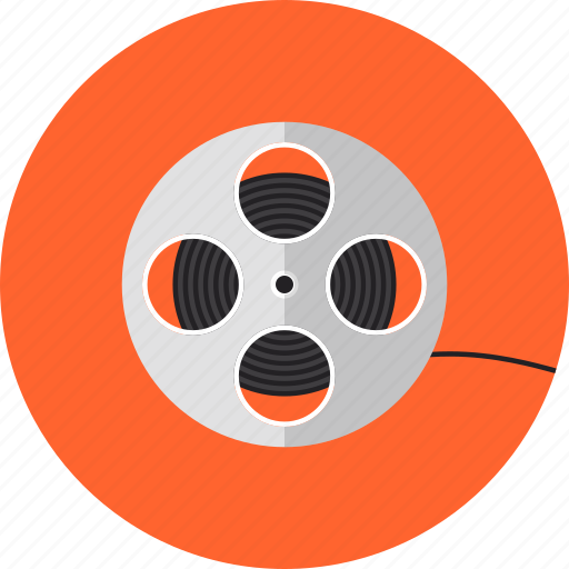 cassette, cinema, cinematography, film, filmstrip, reel, roll, strip, video icon
