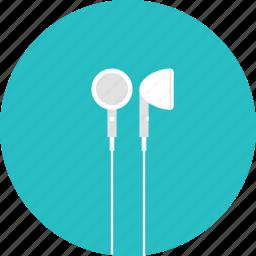 earbuds, earphone, earphones, headphones, sound, speaker icon