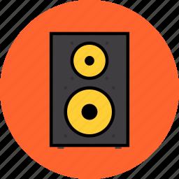 electronics, monitor, sound, speaker, stereo, studio, subwoofer, volume icon
