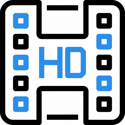 entertainment, file, hd, media, movie, quality, video icon