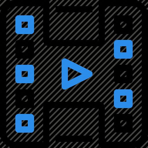 entertainment, file, film, media, movie, video icon