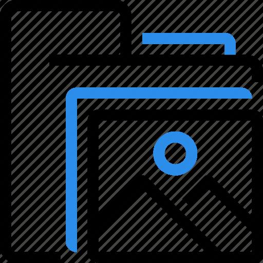 document, entertainment, folder, images, media, photo icon
