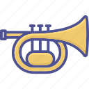 brass, marching band, music instrument, cornet, orchestra icon