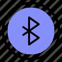 bluetooth, interface, media, wireless icon