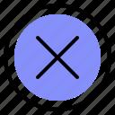 delete, interface, media, remove