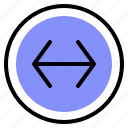 arrow, interface, left, right icon