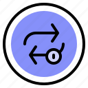 control, interface, loop, repeat icon
