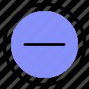 interface, media, minus, remove