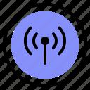 interface, media, radio, wireless icon