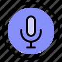 interface, media, record, speaker icon