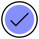 correct, interface, media, selection icon