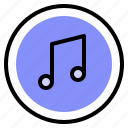 interface, media, music, song icon