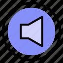 interface, media, silent, sound icon