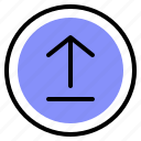 arrow, interface, media, upload
