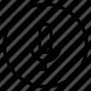 interface, media, speaker, stop icon