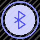 bluetooth, interface, ui, wireless icon