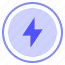 charging, control, media, power icon