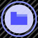 collection, folder, interface, media icon