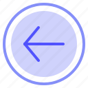 arrow, interface, left, media icon