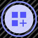 add, interface, list, ui icon