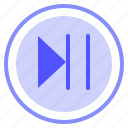 control, media, pause, play icon